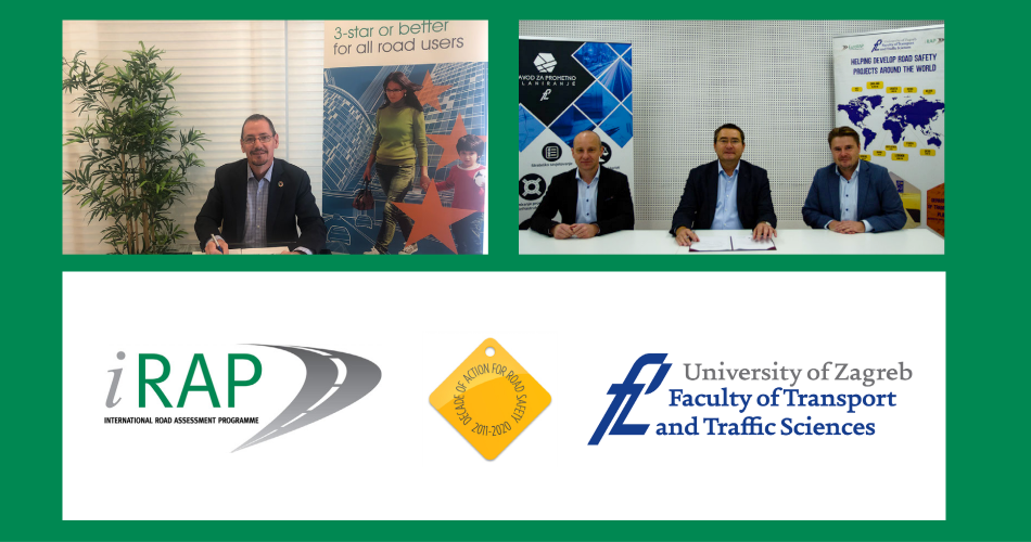 University of Zagreb FPZ signs as iRAP Centre of Excellence in Global Road Infrastructure Safety