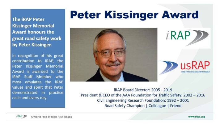 2021 Peter Kissinger Award recipients announced