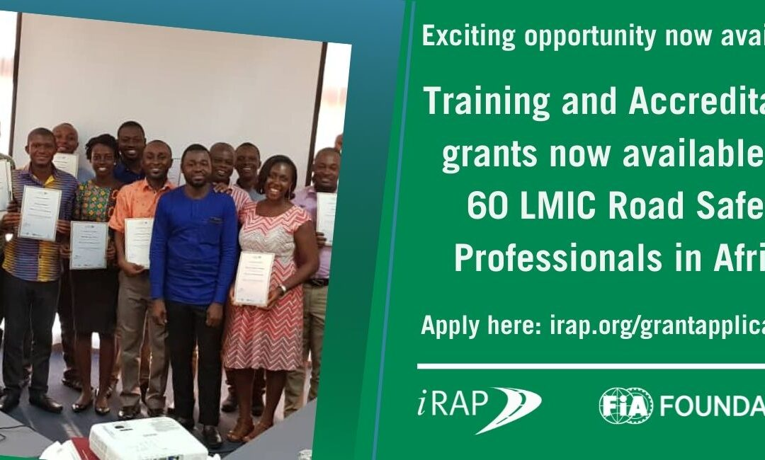 Training and Accreditation grants now available for Road Safety Professionals in Africa