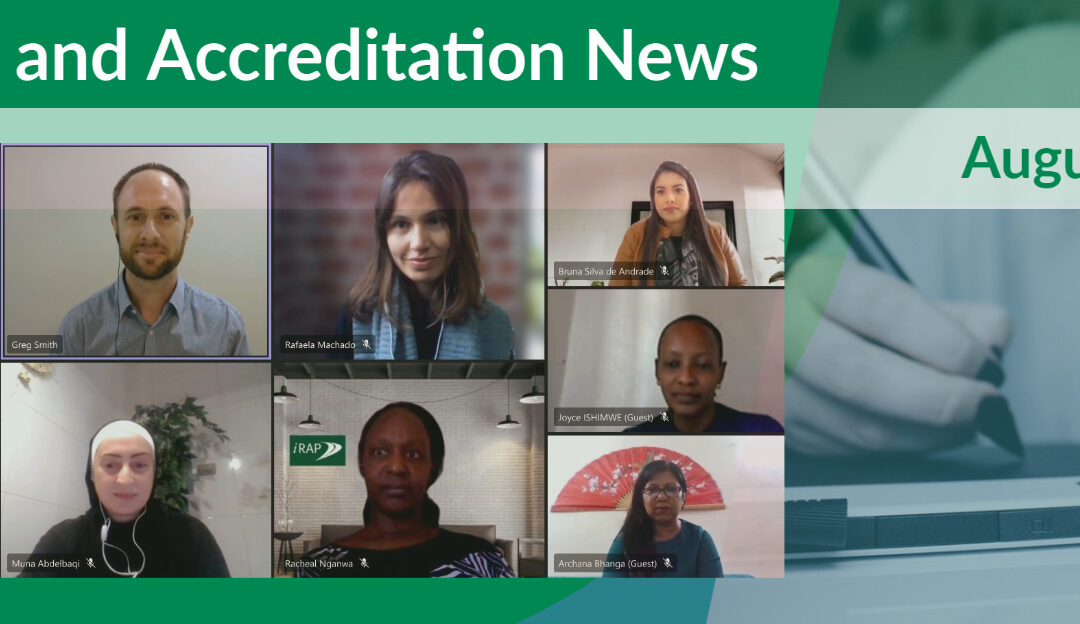 NEW Training & Accreditation Newsletter – August 2021 Edition