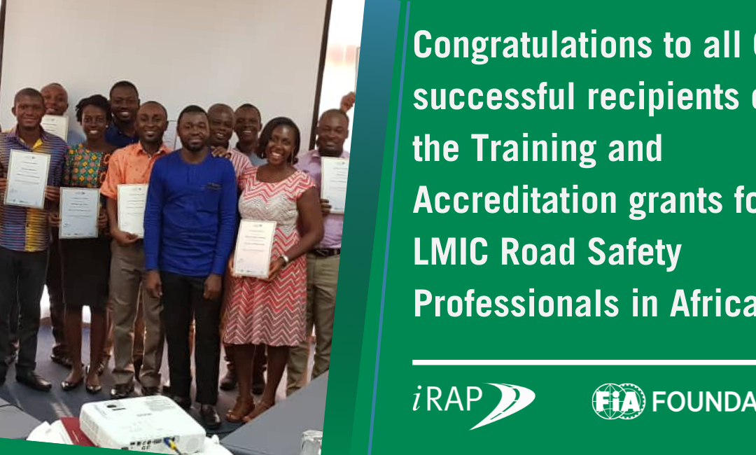 Congratulations to the 60 successful recipients for iRAP's Training and Accreditation grants