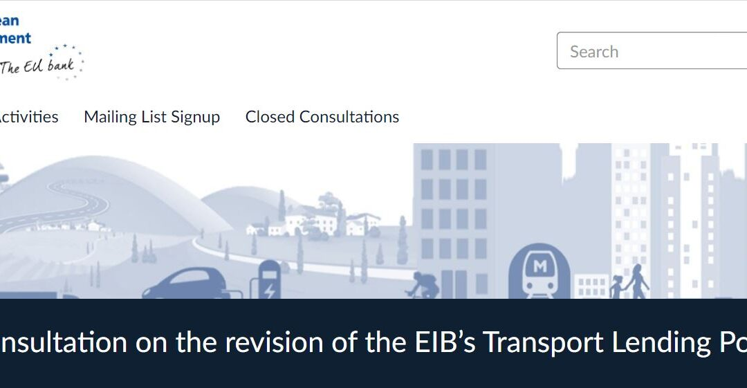 Help EIB support the transition to safe, accessible, green and efficient transport